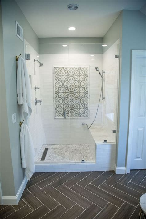 ideas  white subway tile shower  pinterest