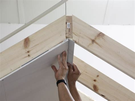 hanging drywall on angled ceiling vault backing angle trim tex drywall products