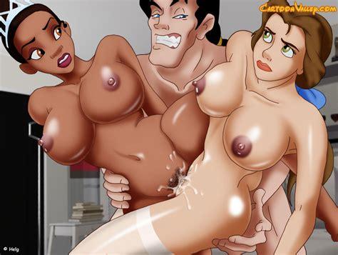 Disney Sex Threesome With The Disney Princesses Porn