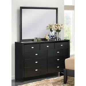 38 in dresser and mirror set in black walmart com