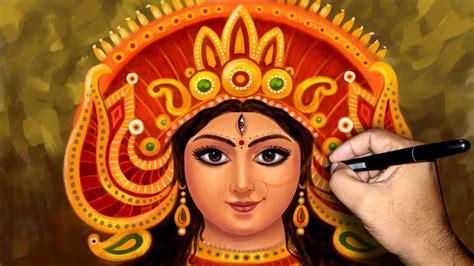 Durga Maa Face Speed Painting