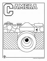 Coloring Pages Letter Alphabet Camera Activities Print sketch template
