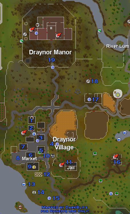 draynor village  manor runescape guide runehq