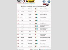 WSBK 2015 Calendar MCNewscomau
