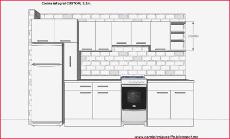 medidas de muebles de cocina latest medidas muebles