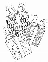 Coloring Pages Printable Presents Complex Christmas Door Hangers Signs Template sketch template