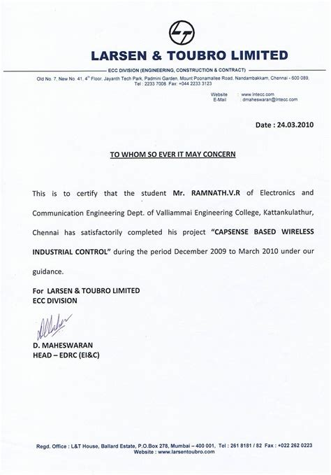 job experience letter valid  certificate job