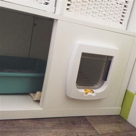 litiere dans les toilettes liti 232 re diy avec kallax pour bob le chat bidouilles ikea