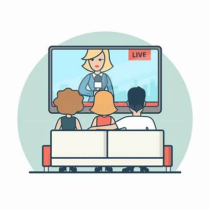 Clipart Tv Watching Station Illustration Vector Clipground