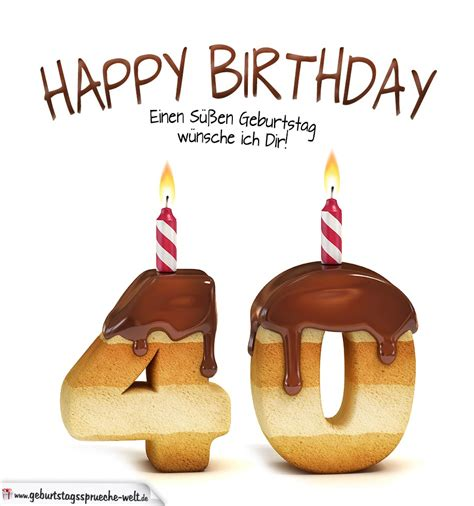 happy birthday in keksschrift zum 40 geburtstag