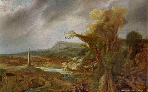 Landscape With Obelisk , Rembrandt Wallpapers Desktop