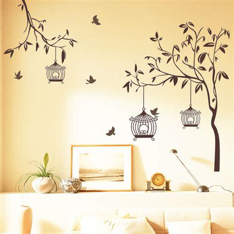 happy street lights birds  tree wall sticker