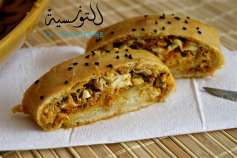 marocain de cuisine brioché farci à la tunisienne