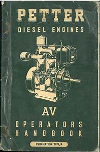 Petter Diesel Engine Av1  U0026 Av2 Operators Manual