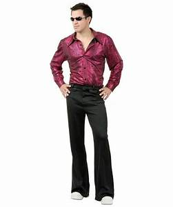 Disco Shirt Liquid Red Black Adult Costume - Men Halloween ...