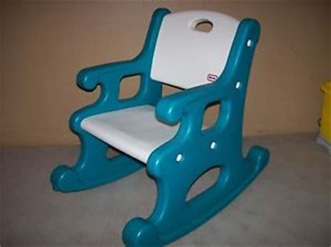 tikes child size rocking chair blue white