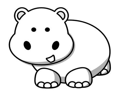 107 dibujos de Hipopótamos para colorear Oh Kids Page 1