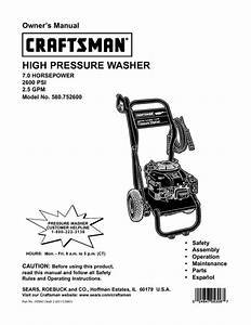 Pressure Washer Owner U0026 39 S Manual