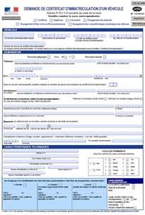 formulaire vente vehicule