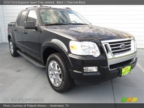 black  ford explorer sport trac limited charcoal