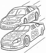 Race Coloring Driver Printable Getcolorings sketch template
