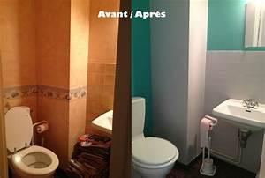deco toilettes bleu gris With quelle couleur pour des toilettes