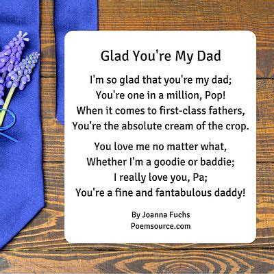 father poems  show dad hes  man