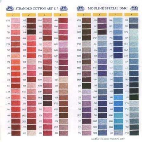 dmc thread color chart dmc stranded cotton colour chart shade card stitchtastic