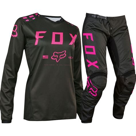 fox womens motocross fox 2017 mx ladies new 180 black pink jersey pants womens