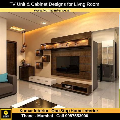 Tv Cabinet Designs Living Room by Tv Unit For Living Room Quot 1 Bhk Home Interior Design