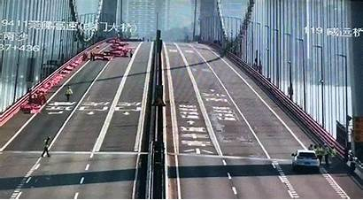 China Bridge Sea Closed Abnormal Shaking Temporarily