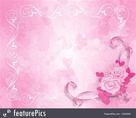 illustration  wedding invitation pink roses