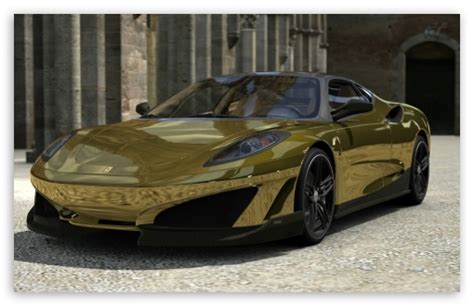 golden ferrari wallpaper ferrari sp1 gold sunshine 4k hd desktop wallpaper for 4k