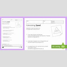 Ks3 Calculating Speed Homework Worksheet  Activity Sheet