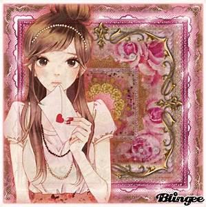 Anime Girl: Love Letter. Picture #124560020 | Blingee.com