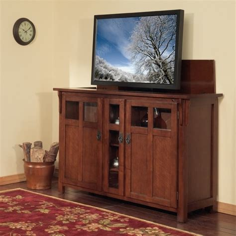 tv lift cabinets for flat screens bungalow chestnut tv lift cabinet for flat screen tvs up