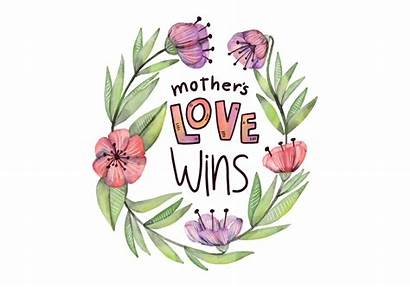 Quote Watercolor Mother Flowers Leaves Vector Clipart