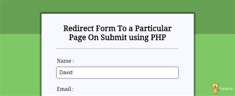 Php Redirect To Url After Form Submission