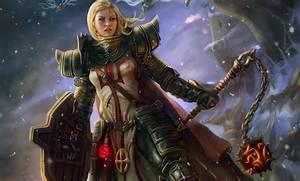 Wallpaper, Anime, Armor, Shield, Diablo, Iii, Mythology, Art, Girl, Screenshot, Warlord