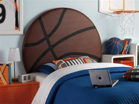 Upholstered Basketball Twin Hb (brown/white) (51.13h X 3