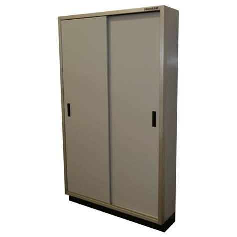 Garage Storage Cabinets With Doors by Aluminum Garage Sliding Door Cabinets Moduline Cabinets