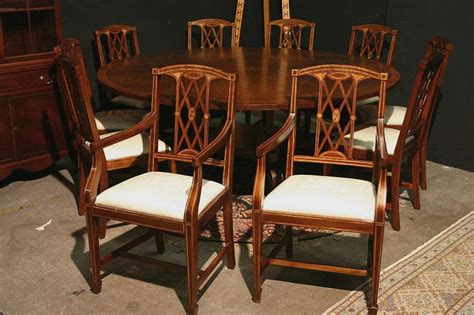 edwardian inlaid solid mahogany dining chairs federal ebay