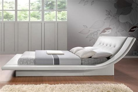 White King Headboard Wood calyx modern bed with curved headboard