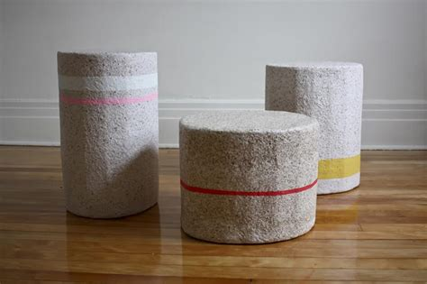 recycled paper  functional furniture design milk
