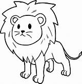 Lion Coloring Pages Colouring Printable Cartoon Print Getcolorings Colorings sketch template