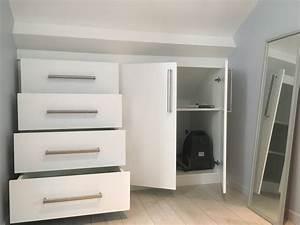 Meuble Pour Sous Pente : meubles sur mesure ~ Melissatoandfro.com Idées de Décoration