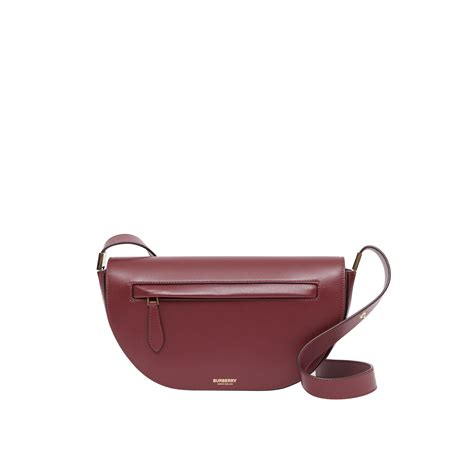 burberry small leather olympia bag  burgundy luxuovn