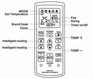 Mitsubishi Air Conditioner Heat Remote Control Symbols