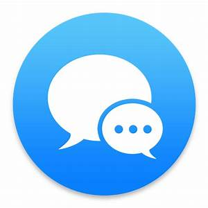 Imessage Blue V2 Icon 1024x1024px Ico Png Icns Free