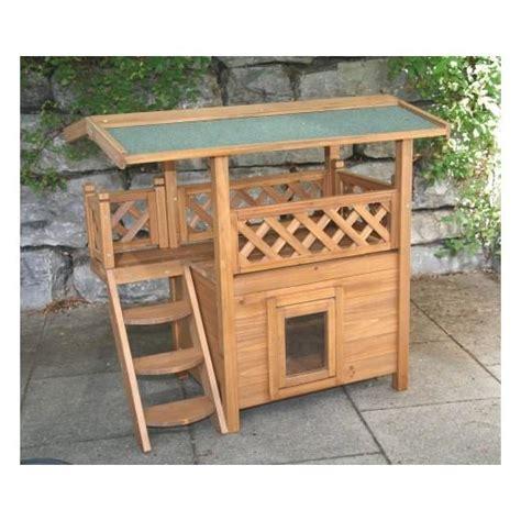 chat interieur ou exterieur maisonnette en bois lodge d int 233 rieur ou d ext 233 rieur pour chats accessoires pour le couchage